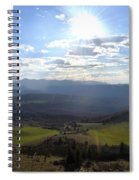 View From Nebias Spiral Notebook