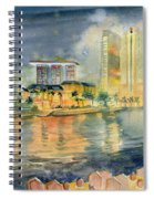 View From Quay Singapore Spiral Notebook