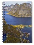 View From Reinebringen Spiral Notebook