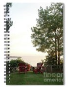 View From Ring Dang Doo South Hero Vermont Spiral Notebook