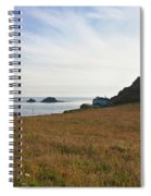 View From St Helen's Oratory Cape Cornwall Spiral Notebook