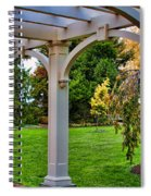 View From The Garden Way Spiral Notebook