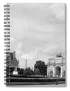 View From The Louvre In Black And White Spiral Notebook