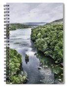 View From The Monksville Bridge Spiral Notebook