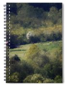 View From The Pond At The Hacienda Spiral Notebook