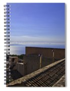 View From The Top In Sicily Spiral Notebook