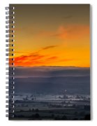 View From The Top Of Glastonbury Tor At Sunrise Spiral Notebook