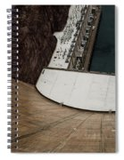 View From Top Of Hoover Dam Spiral Notebook