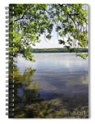 View From Under At Lake Carmi Spiral Notebook