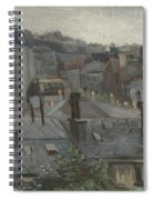 View From Vincent S Studio Paris, June 1886 Vincent Van Gogh 1853  1890 Spiral Notebook