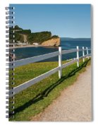 View In Perce Quebec Spiral Notebook