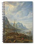 View Of A River With Boat Moorings Spiral Notebook