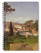 View Of A Villa Spiral Notebook