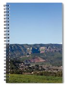 View Of A Village In Valley, Santa Spiral Notebook
