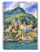 View Of Amalfi Spiral Notebook