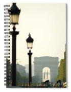 View Of Arc De Triomphe Spiral Notebook