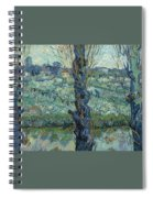View Of Arles, Flowering Orchards Spiral Notebook