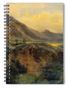 View Of Bagneres De Luchon. Pyrenees Spiral Notebook