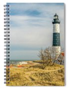 View  Of Big Sable Point Michigan Spiral Notebook