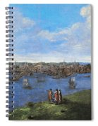 View Of Boston, 1738 Spiral Notebook