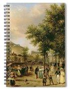 View Of Boulevard Montmartre Spiral Notebook