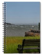 View Of Castle Pinckney During Tropical Storm Hermine Spiral Notebook