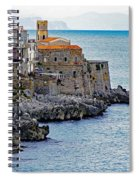 View Of Cefalu Sicily Spiral Notebook