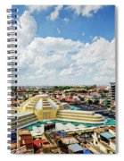 View Of Central Market Landmark In Phnom Penh City Cambodia Spiral Notebook