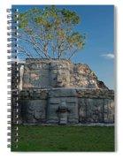 View Of Cerros Maya Ruins At Cerros Spiral Notebook