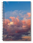View Of Clouds In The Sky Spiral Notebook
