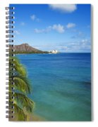 View Of Diamond Head Spiral Notebook