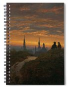 View Of Dresden At Sunset  Spiral Notebook