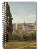 View Of Florence From The Boboli Gardens Spiral Notebook