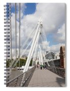View Of Golden Jubilee Bridge, Thames Spiral Notebook