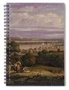 View Of Greenock  Scotland 1816 By Robert Salmon Spiral Notebook