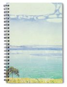 View Of Lake Leman From Chexbres Spiral Notebook