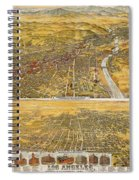 View Of Los Angeles, 1894 Spiral Notebook
