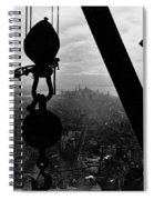 View Of Lower Manhattan From The Empire State Building Spiral Notebook