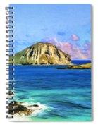 View Of Makapuu And Rabbit Island Spiral Notebook