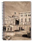 View Of Montgomery County Courthouse From The Southside In Sepia Spiral Notebook
