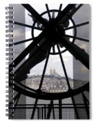 View Of Montmartre Through The Clock At Museum Orsay.paris Spiral Notebook