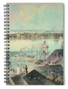 View Of New York From Brooklyn Heights Ca. 1836, John William Hill Spiral Notebook