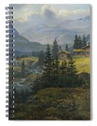 View Of Oylo Farm, Valdres Spiral Notebook