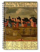 View Of Philadelphia 1729 Spiral Notebook