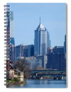 View Of Phliadelphia From West River Drive. Spiral Notebook
