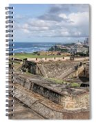 View Of San Juan From The Top Of Fort San Cristoba Spiral Notebook