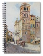 View Of Santa Maria In Monticelli, Rome  Spiral Notebook