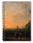 View Of Seaport Spiral Notebook