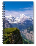 View Of The Swiss Alps Spiral Notebook