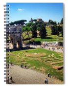 View Of The Arch Of Constantine From The Colosseum Spiral Notebook